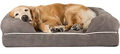 Friends Forever 100% Suede Large Dog Bed / Lounge, Prestige Edition (36 x 28 x 9
