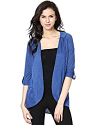 Femella Women's Rounded Hem Cape with Dual Pockets( DS-13834-56-FDB-XS )