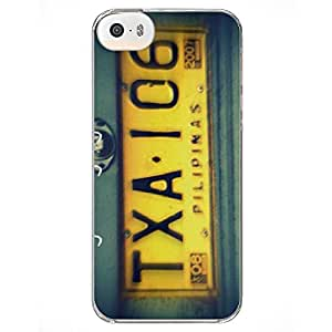 MoArmouz® Yellow Taxi Number License Plate Back Case Cover for Apple iPhone 5 5S SE Casing - Printed Back Cover Case for Apple iPhone 5 5S SE Colorful Printed Hard Protective Back Case Cover