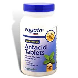Equate - Antacid Extra Strength Freshmint Flavor, Compare to Rolaids -100 Chewable Tablets