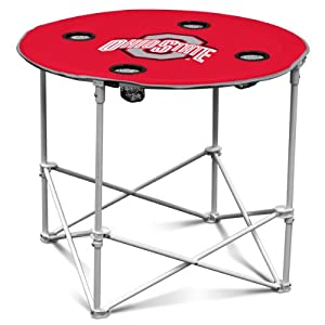 NCAA Ohio State Buckeyes Round Tailgating Table