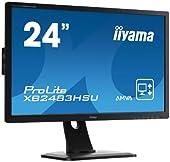 iiyama AMVA+パネル搭載 WLEDバックライト24型ワイド液晶ディスプレイ XB2483HSU-B1