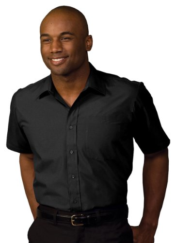 Edwards Garment Men's Big And Tall Short Sleeve Broadcloth Shirt_BLACK_5XLT (Garment Security Cable compare prices)