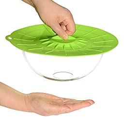 Microwave Cover & Cooking Splatter Guards - Silicone Lids & Food Covers - Bonus Gift Free Hot Pad