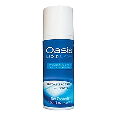 Oasis LID & LASH Eyelid and Lash Soothing Gel Cleanser, 1.69 Ounce