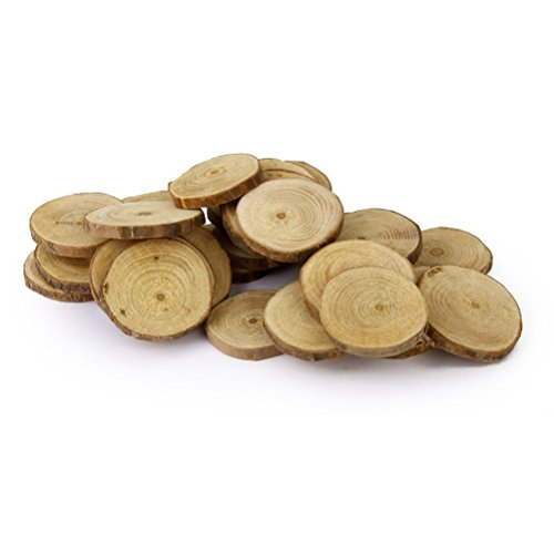 nuolux-wood-log-slices-discs-for-diy-crafts-wedding-centerpieces-4-5cm-30pcs