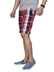 Hammock Men's Large Checked Bermuda Shorts - Red/Blue (30)