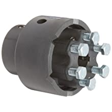 "Delrin and Nylatron Adjustable Torque Limiter, 0.750"" Bore, Torque Range: 140-350 in-lbs 3.45"" Length"