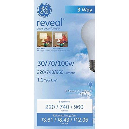Reveal Reveal 3 Way Light Bulb 100 W 220/740 Lumens Med Base Boxed