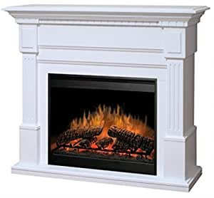 Dimplex Sussex Electric Fireplace In White Home Kitchen