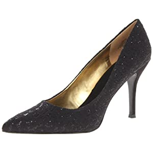 Nine West Women's Flax Dress Pump,Black Lace,7 M US