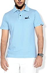 Erdferkel & Wobbegong Men's Pique Polo T-Shirt (ENW_26_Light Blue_Large)