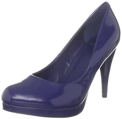 Amazon.com: Carvela Women's Platforms Heels Blue Leather