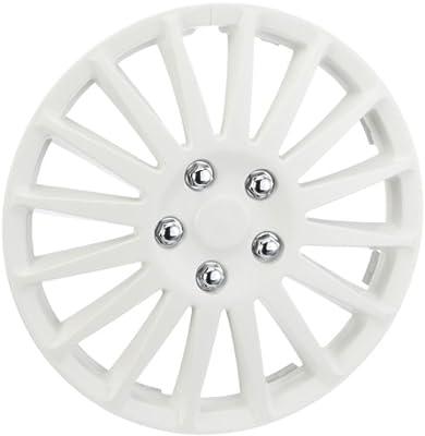 Unitec 75195 Premium- Radzierblenden 4er- Satz Barcelona, weiss 38,1 cm (15 Zoll) - 4-er Set von Unitec auf Reifen Onlineshop