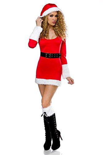 Sexy Santa 10603-Costume sexy da Babbo Natale, da donna