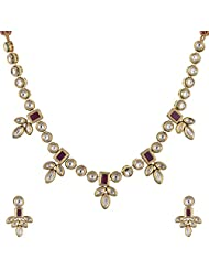Ashapura Gold Plated Necklace With Studs For Women - N0297