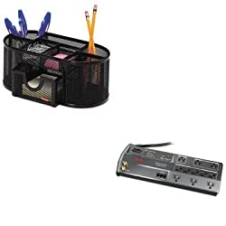 KITAPWP11GTVROL1746466 - Value Kit - Apc Power-Saving Performance SurgeArrest Surge Protector APWP11GTV and Rolodex Mesh Pencil Cup Organizer ROL1746466