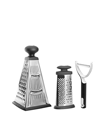 BergHOFF Studio 2-Piece Grater Set with Peeler, Silver