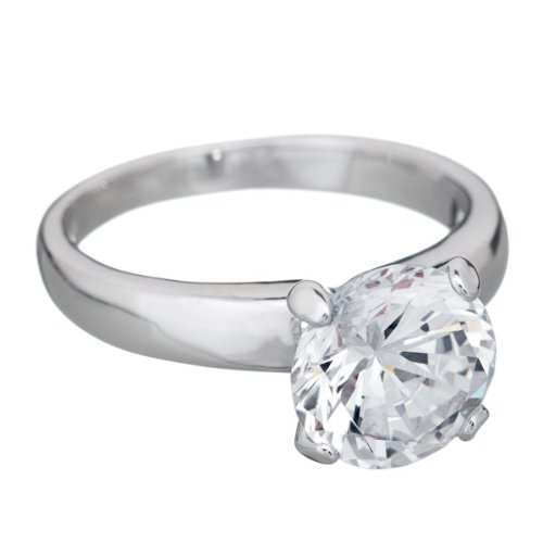 Annaleece Crystal Yours Truly, Size 10 - Ring