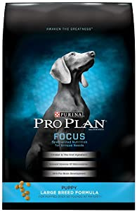 Purina Pro Plan Dry Puppy Food, Large Breed Formula, 34-Pound Bag