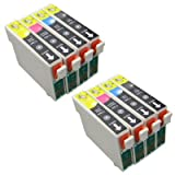 2x Sets (8 Cartridges) T1285 Compatible Ink Cartridge Multipack (with chip) for Epson Stylus Stylus S22 SX125 SX420W SX425W Stylus Office BX305F BX305FW Printers. Includes T1281 Black T1282 Cyan T1283 Magenta T1284 Yellow. VAT RECEIPT WITH EVERY ORDER &