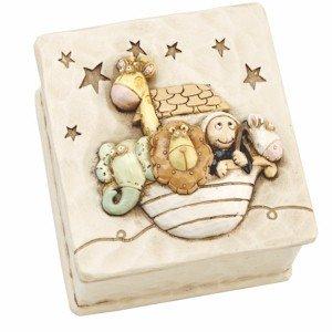 Baby Noah's Ark Animals Resin Trinket Box