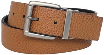 C-Red Men's Reversible Belt, Tan/Black, 40