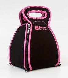 Solvetta FlatBox-LunchBox, in Black/Pink by Solvetta