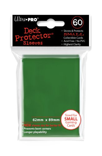 Ultra Pro Card Supplies YUGIOH Deck Protector Sleeves Green 60 Count