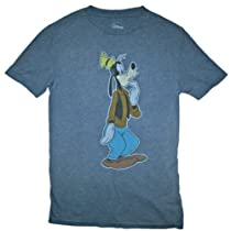 Disney Mens Curious Goofy T Shirt (L (42/44))