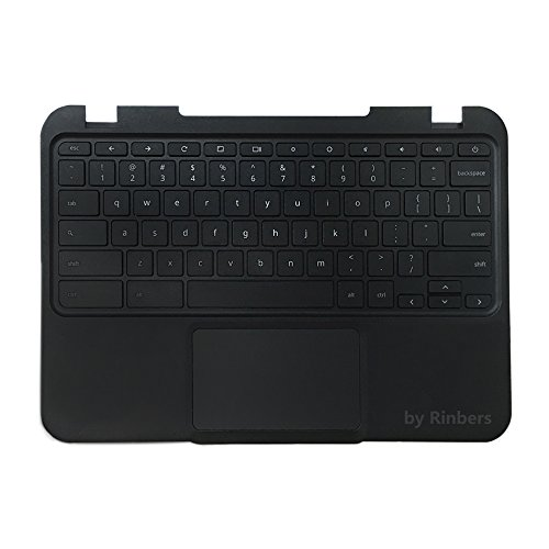 Rinbers Lenovo Chromebook N22 Laptop Black Upper Case Palmrest Keyboard Touchpad Assembly Replacement Part Keyboard Assembly