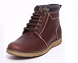 Contablue Mens Leather Boots Woody (6 UK)