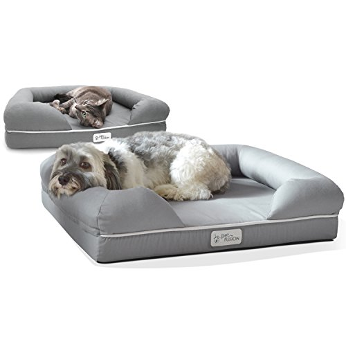 PetFusion Ultimate Dog / Cat Bed. (Small Gray, 25 x 20 x 5.5