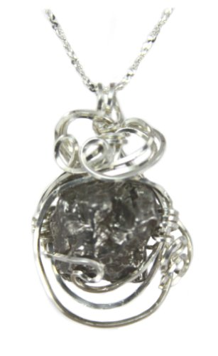 Sterling Silver Meteorite Pendant Necklace Pendant Necklace Fancy