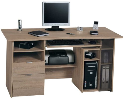 Jahnke CU Club Sawn Oak Computer Desk