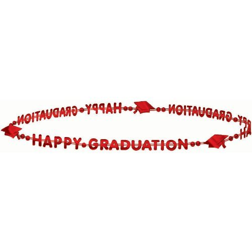 Red Grad Bead Necklace - 1