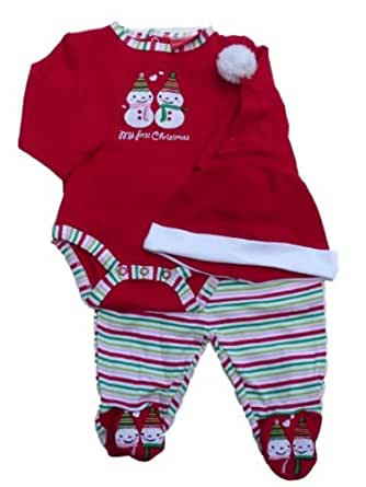 Carters Infant Boys & Girls My First Christmas Outfit Snowman Onesie & Pants