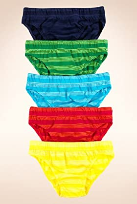 5 Pack - Pure Cotton Tonal Striped Slips
