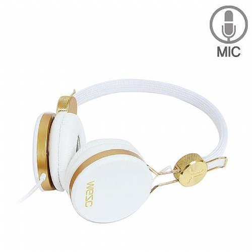 Wesc Banjo Golden Headphones (white)の写真02。おしゃれなヘッドホンをおすすめ-HEADMAN(ヘッドマン)-