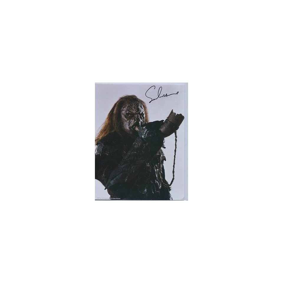 Signed LoRD Of The Rings Uruk Ihai Captain Pose With Horn UACC RD 244