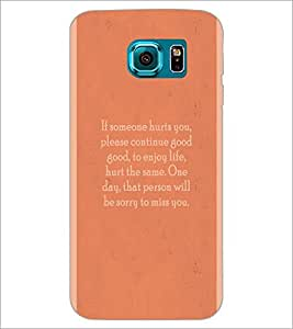 PrintDhaba Quote D-4969 Back Case Cover for SAMSUNG GALAXY S6 (Multi-Coloured)