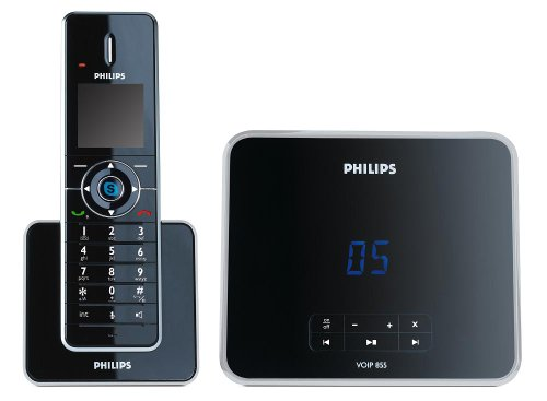 Philips VOIP8551B Cordless phone with Skype  &  answering machine - Black
