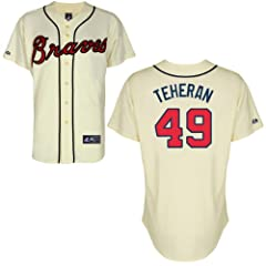 Julio Teheran Atlanta Braves Alternate Ivory Replica Jersey by Majestic by Majestic