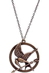 Lureme Antique Bronze Chain Arrow Bird Pendant Necklace for Women and Men 01000947-1*