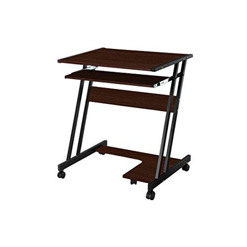木製パソコンデスク パソコンラック 学習机 勉強机 事務テーブル オフィスデスク〔底板付〕 ダークブラウン