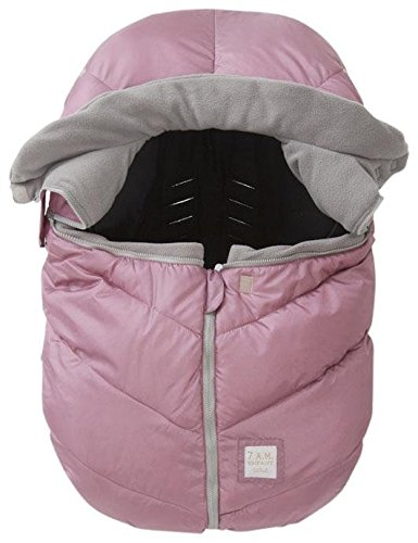 7 A.M. ENFANT Car Seat Cocoon: Infant Car Seat Cover Micro-Fleece Lined with an Elasticized Base, Metallic Lilac