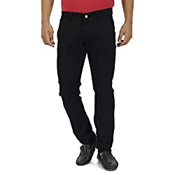Jet Black Jeans for Men Slim Fit Stretch Narrow denim formal pant look good quality