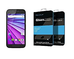 Zhopix's Mocolo UHD Tempered Glass Screen Protector Shield with Oleophobic Coating Tempered Glass Screen Guard for Moto G Turbo Edition with 9H hardness 0.33 mm thickness Best adhesion to the screen 2.5D curved with installation kit