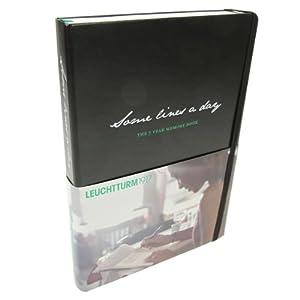Leuchtturm1917 A5 Medium Some Lines a Day 5 Year Memory Book - Black