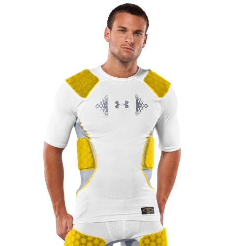 Men's MPZ® 5-Pad Impact Football Shirt Tops by Under Armour Small White